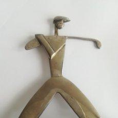 Arte: GOLFISTA , FIGURA ART - DECO EN METAL , BASE EN MARMOL , MED. FIGURA 17 X 14 CMS.. Lote 191998081