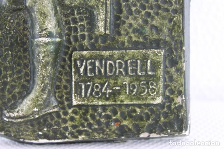 Arte: PLAFÓN EN ESTUCO DEL ÁNGEL TOBIAS DEL CAMPANARIO DE EL VENDRELL 1784-1958 - PRINCIPIOS SIGLO XX - Foto 3 - 194075498