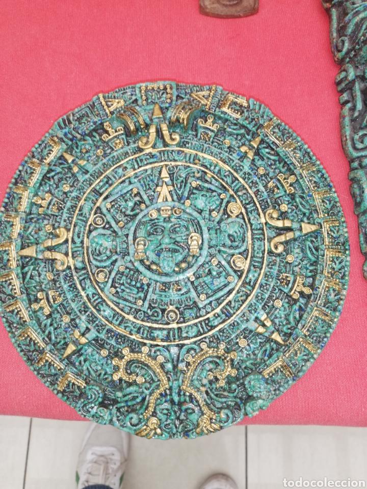 Arte: Esculturas... Figuras.. Conjunto piezas creo terracota Azteca.. - Foto 2 - 194107912