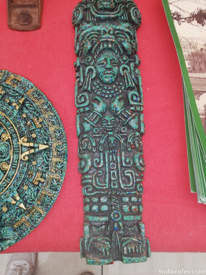 Arte: Esculturas... Figuras.. Conjunto piezas creo terracota Azteca.. - Foto 3 - 194107912