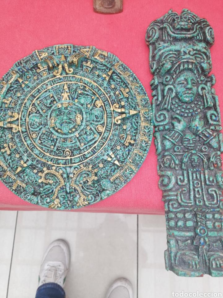 ESCULTURAS... FIGURAS.. CONJUNTO PIEZAS CREO TERRACOTA AZTECA.. (Arte - Escultura - Otros Materiales)