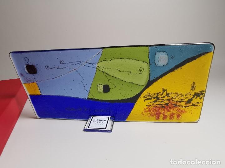 Arte: PLAFON CUADRO CRISTAL SOPLADO ARTISTA SADURNI RAFOLS--ALEGORIA AL PUEBLO DE LLORENÇ DEL PENEDES - Foto 18 - 194141901