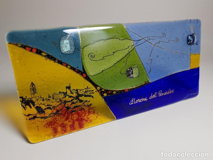 PLAFON CUADRO CRISTAL SOPLADO ARTISTA SADURNI RAFOLS--ALEGORIA AL PUEBLO DE LLORENÇ DEL PENEDES (Arte - Escultura - Otros Materiales)