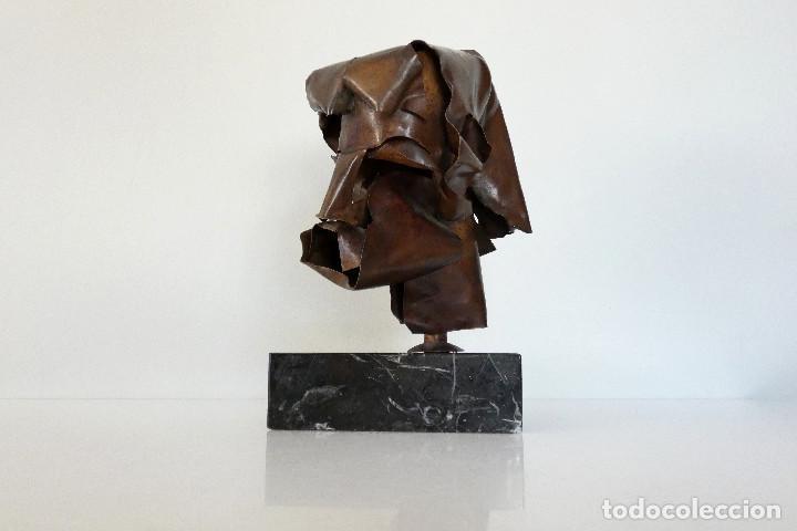 ESCULTURA CABEZA EN COBRE POR DURAN SURROCA (Arte - Escultura - Otros Materiales)