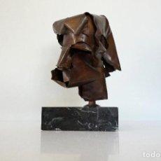 Arte: ESCULTURA CABEZA EN COBRE POR DURAN SORROCA. Lote 194348518