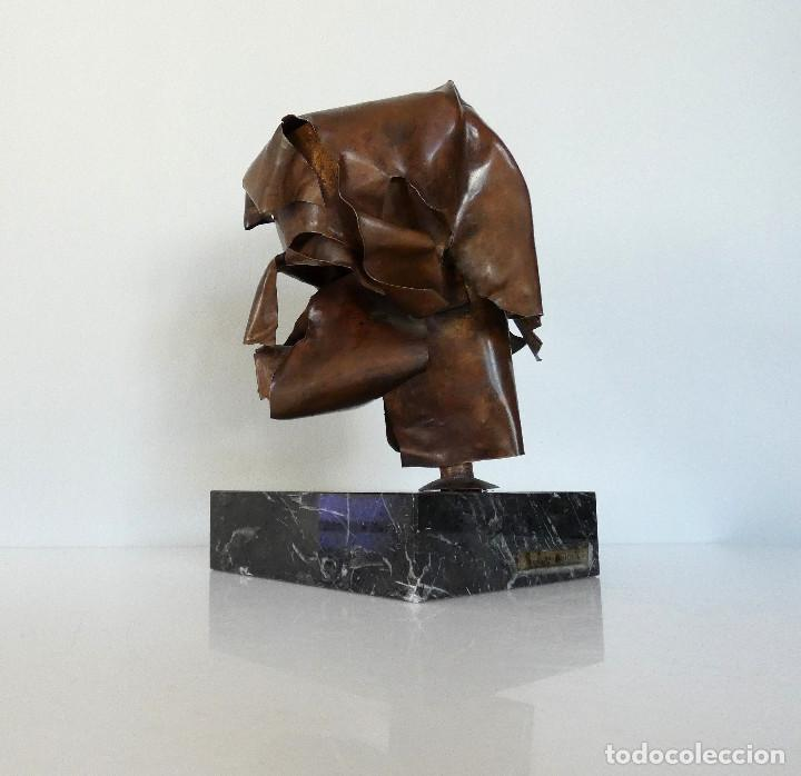 Arte: Escultura cabeza en cobre por Duran Surroca - Foto 3 - 194348518