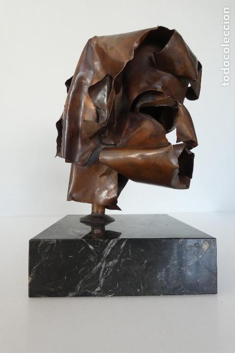 Arte: Escultura cabeza en cobre por Duran Surroca - Foto 4 - 194348518