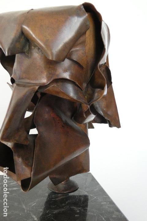 Arte: Escultura cabeza en cobre por Duran Surroca - Foto 5 - 194348518