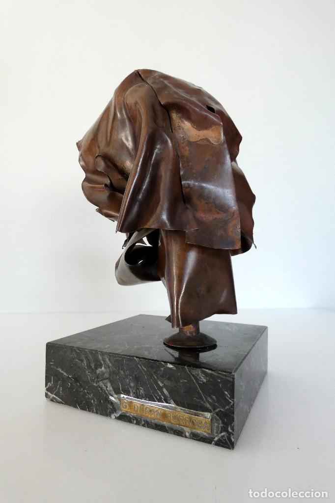 Arte: Escultura cabeza en cobre por Duran Surroca - Foto 6 - 194348518