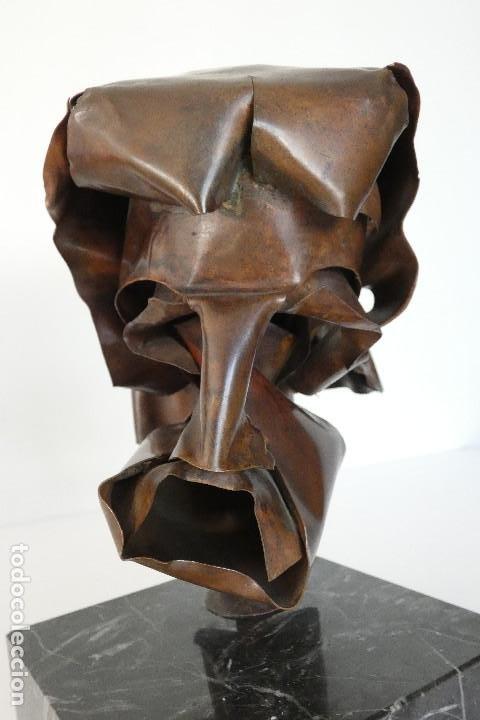 Arte: Escultura cabeza en cobre por Duran Surroca - Foto 7 - 194348518
