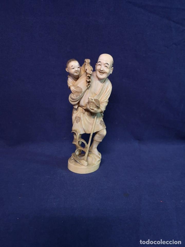 TALLA JAPONESA EPOCA MEIJI (Arte - Escultura - Otros Materiales)