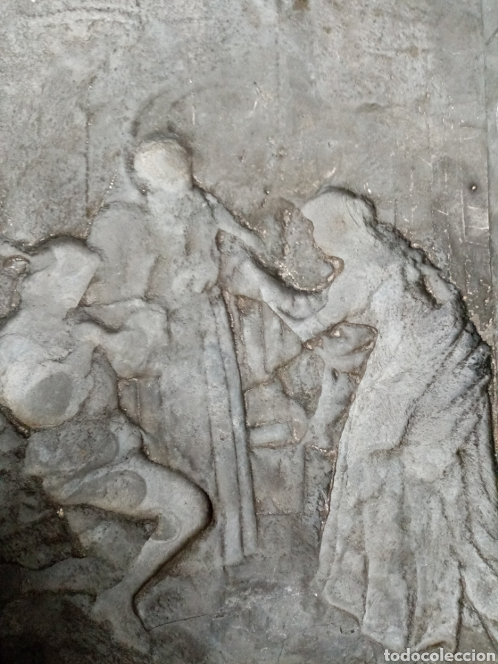 Arte: Antiguo relieve francés s. XIX. COBRE - Foto 3 - 189768087
