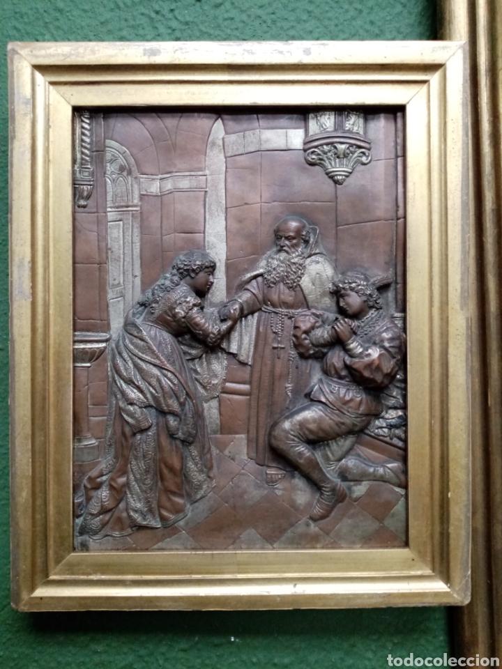 Arte: Antiguo relieve francés s. XIX. COBRE - Foto 4 - 189768087