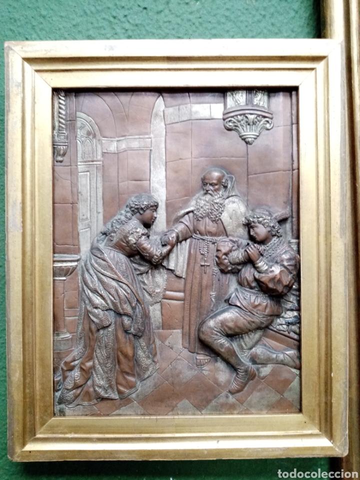 ANTIGUO RELIEVE FRANCÉS S. XIX. COBRE (Arte - Escultura - Otros Materiales)