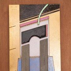 Arte: RAMON GIRONES Y BENET FERRER - ESCOLA MASSANA - ESCULTURA ESMALTE - 1988. Lote 194946886
