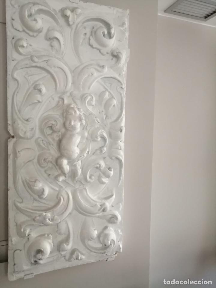 ESCAYOLA ANTIGUA ANGELITO, MARAVILLOSA, MUY BIEN CONSERVADA, (Arte - Escultura - Otros Materiales)