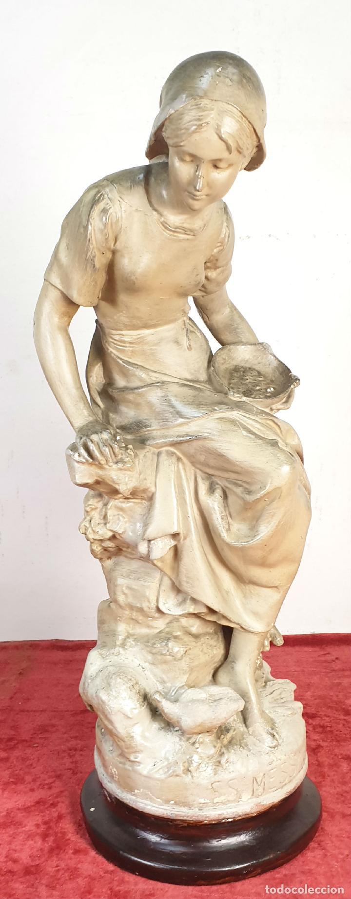 LES MESSENGERS. ESCULTURA EN ESTUCO EFECTO MÁRMOL. SIGLO XIX-XX (Arte - Escultura - Otros Materiales)