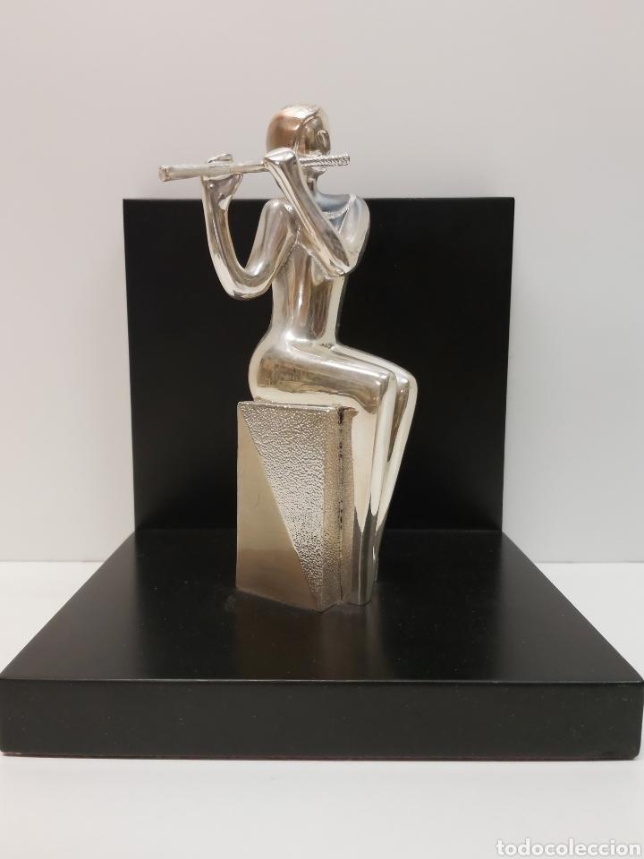FIGURA OTTAVIANI PLATA (Arte - Escultura - Otros Materiales)