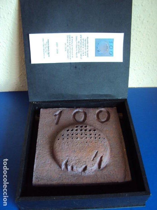 (ANT-200267)LOGOTIPO CENTENARI OBSERVATORI DE L´EBRE - CERAMISTA JOAQUIM ESPUNY I AGULLO (Arte - Escultura - Otros Materiales)