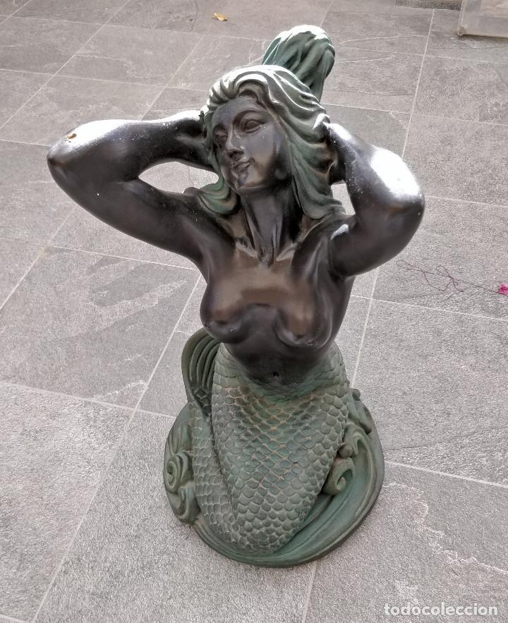 ANTIGUA ESTATUA DE SIRENA (Arte - Escultura - Otros Materiales)
