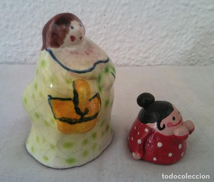 Arte: Lote figuras mujeres gordas cerámica barro - Foto 2 - 195393676