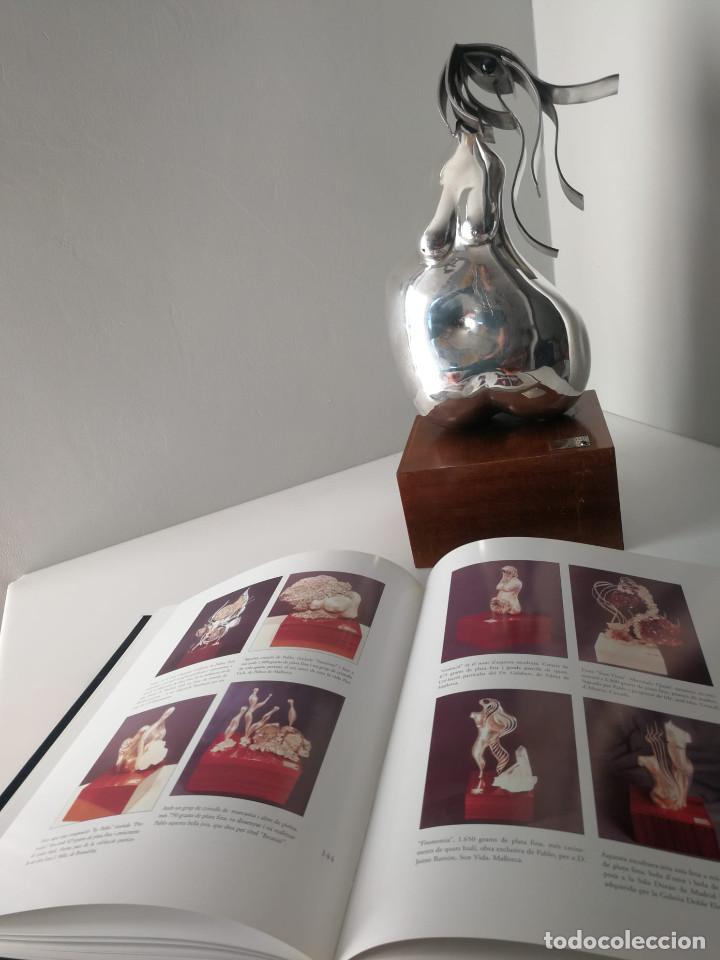 Arte: Joya - Escultura realizada en plata pura por Pablo Fuster , 1970s + libro Relojeria Alemana - Foto 6 - 195510308