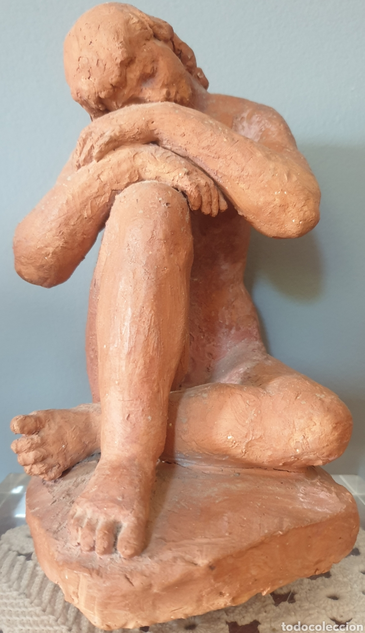 Arte: Lluís Curós Morató (Olot, 1886-1979) - Reposo.Ceramica.Firmada.1974. - Foto 3 - 198618240