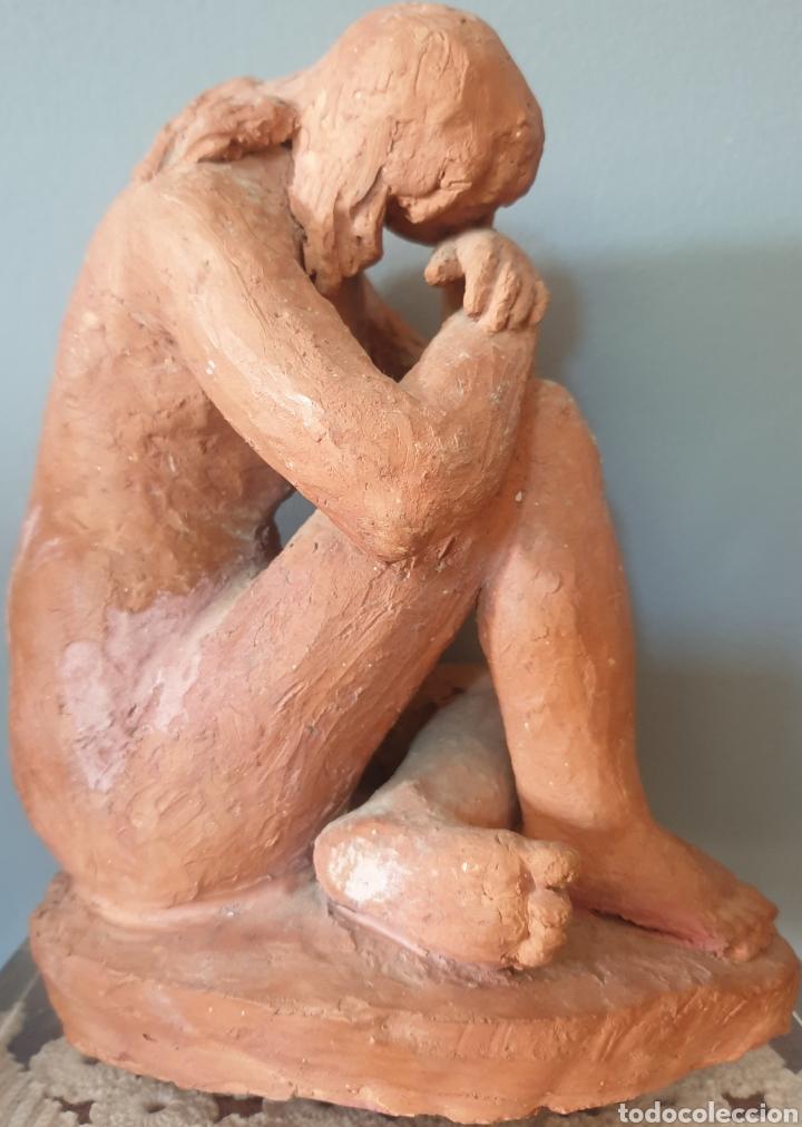 Arte: Lluís Curós Morató (Olot, 1886-1979) - Reposo.Ceramica.Firmada.1974. - Foto 4 - 198618240
