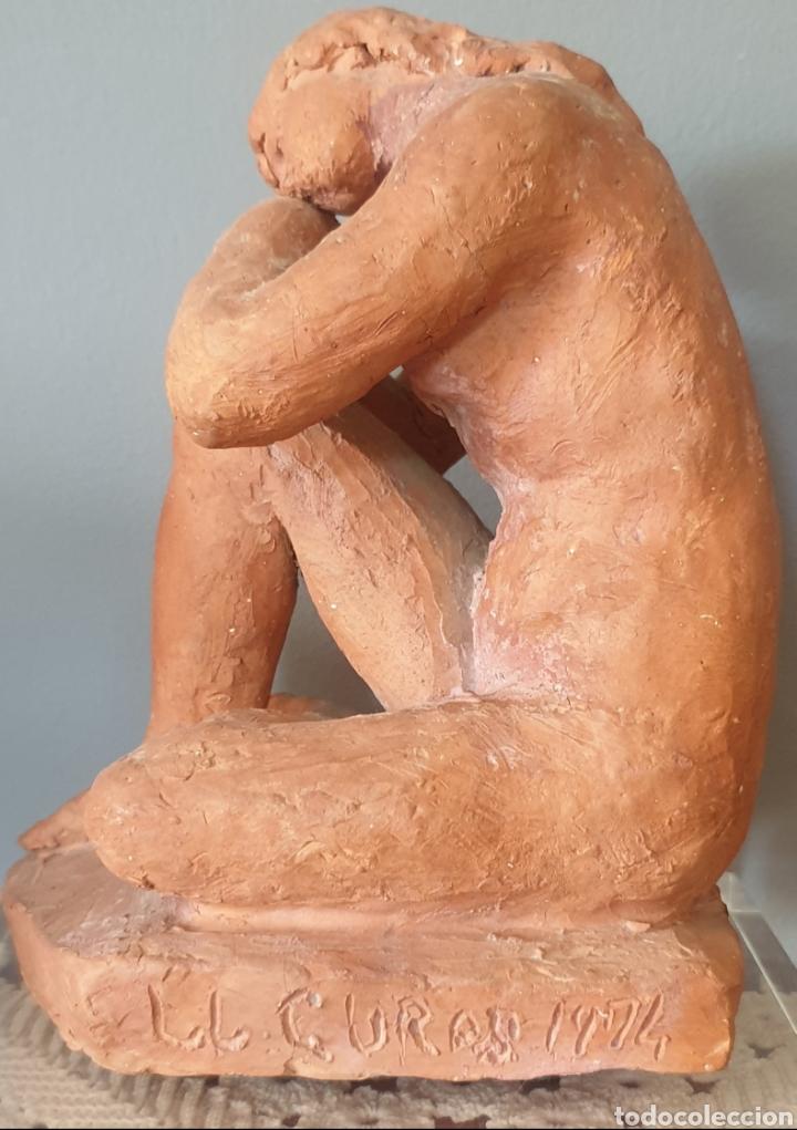 Arte: Lluís Curós Morató (Olot, 1886-1979) - Reposo.Ceramica.Firmada.1974. - Foto 5 - 198618240