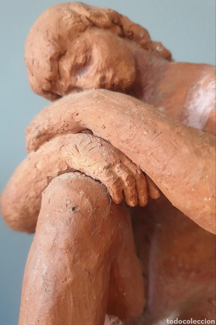 Arte: Lluís Curós Morató (Olot, 1886-1979) - Reposo.Ceramica.Firmada.1974. - Foto 7 - 198618240