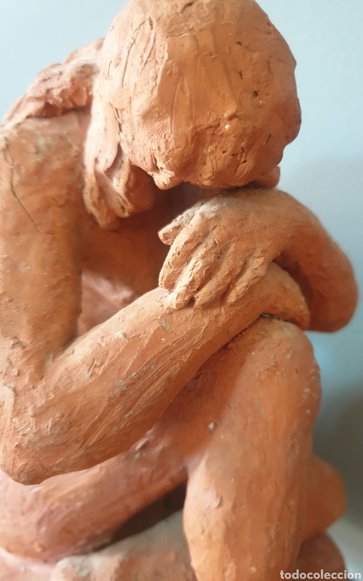 Arte: Lluís Curós Morató (Olot, 1886-1979) - Reposo.Ceramica.Firmada.1974. - Foto 8 - 198618240