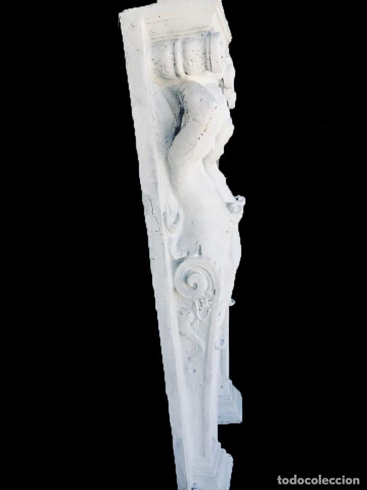 Arte: Antiguo ángel, atlante, columna, ménsula, repisa. 130x30x20 cariátide - Foto 3 - 226810965
