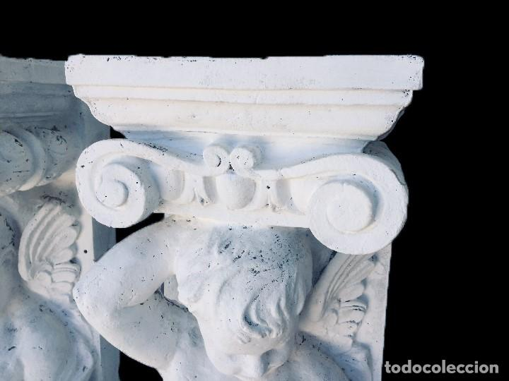 Arte: Antiguo ángel, atlante, columna, ménsula, repisa. 130x30x20 cariátide - Foto 4 - 226810965