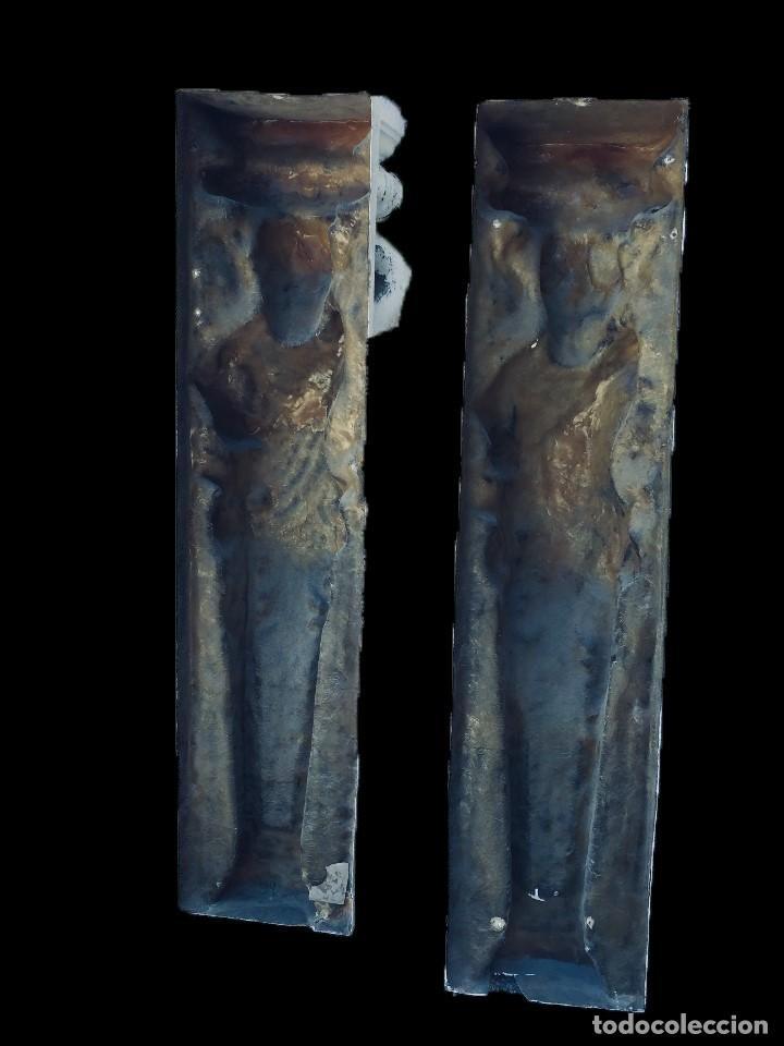 Arte: Antiguo ángel, atlante, columna, ménsula, repisa. 130x30x20 cariátide - Foto 5 - 226810965