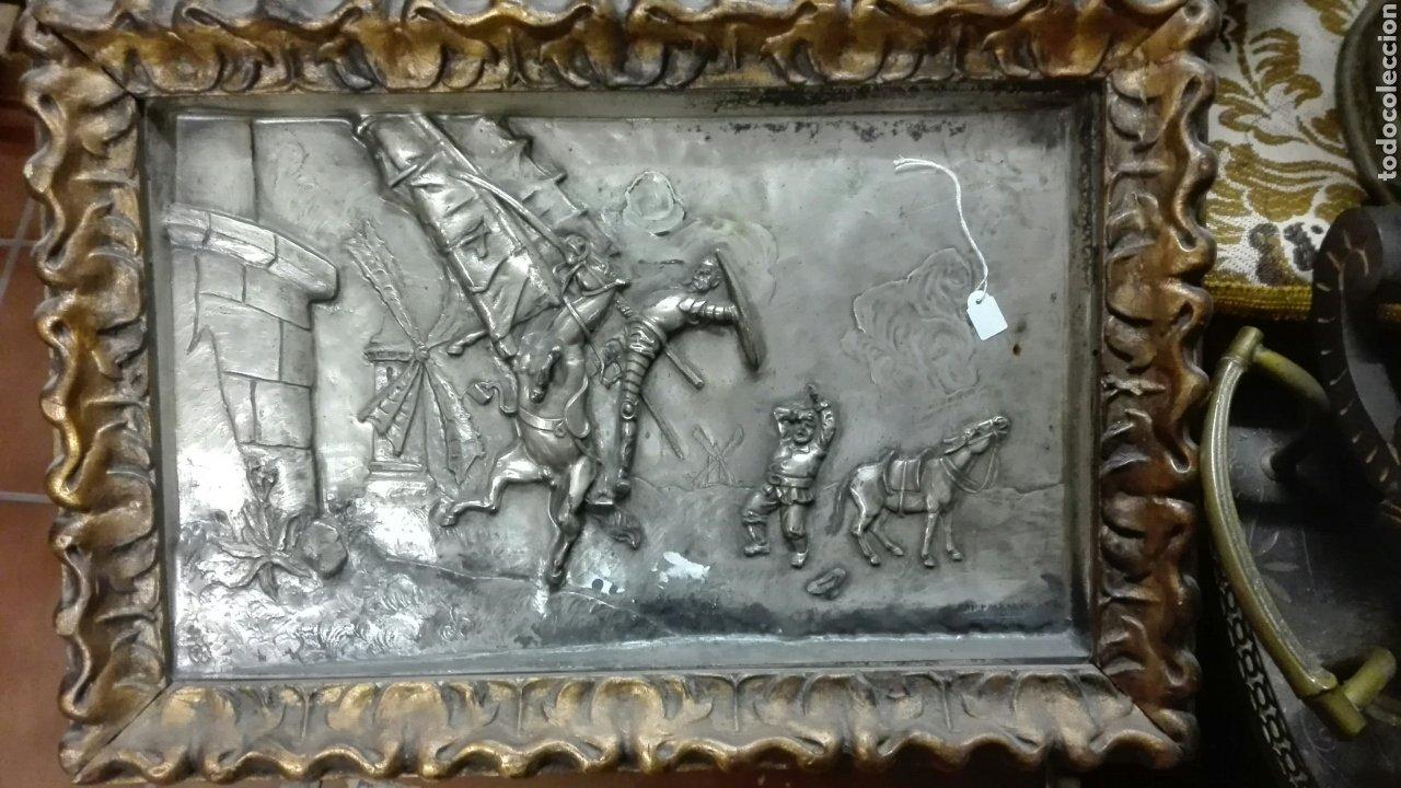 CUADRO CINCELADO POR M.PALLARES (Arte - Escultura - Otros Materiales)