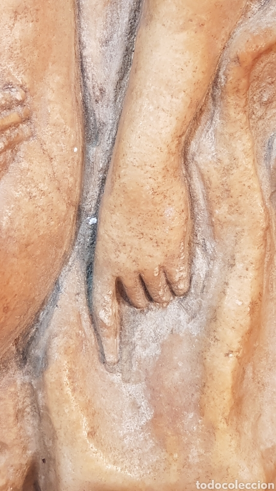 Arte: FIGURA FEMENINA SENTADA DESNUDA DE MÁRMOL EN FORMA DE TONDO ENMARCADO EN MADERA. SIGLO XIX. - Foto 6 - 201238646
