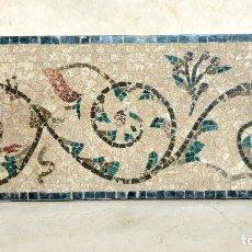 Arte: DE MUSEO,EXCEPCIONAL FRISO,MOSAICO DE FLORES Y PAJAROS. Lote 204160163