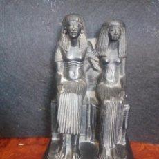 Arte: DOS FIGURAS SENTADAS EGIPCIAS DEL MUSEO DE LOUVRE. Lote 205515870