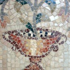 Arte: DE MUSEO,EXCEPCIONAL FRISO,MOSAICO DE COPA CON FLORES. Lote 205850502