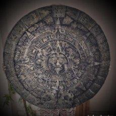 Arte: CALENDARIO AZTECA, MAYA, 77 CM. ESCANEO 3D DEL ORIGINAL. REALIZADO POR HISTORIADORES ARTESANOS. Lote 207038111