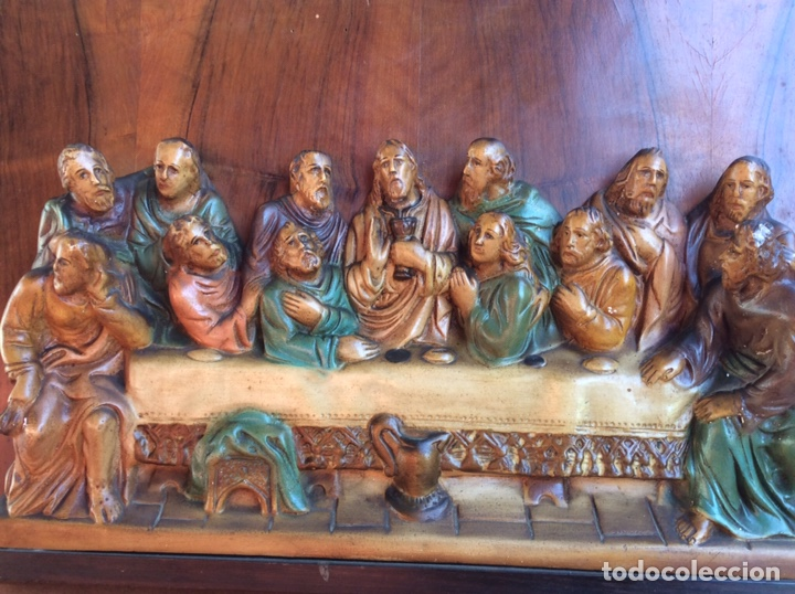 Arte: Santa Cena policromado - Foto 2 - 209951582