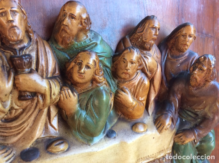 Arte: Santa Cena policromado - Foto 3 - 209951582