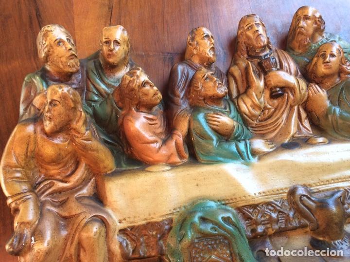 Arte: Santa Cena policromado - Foto 5 - 209951582