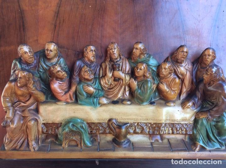 Arte: Santa Cena policromado - Foto 7 - 209951582