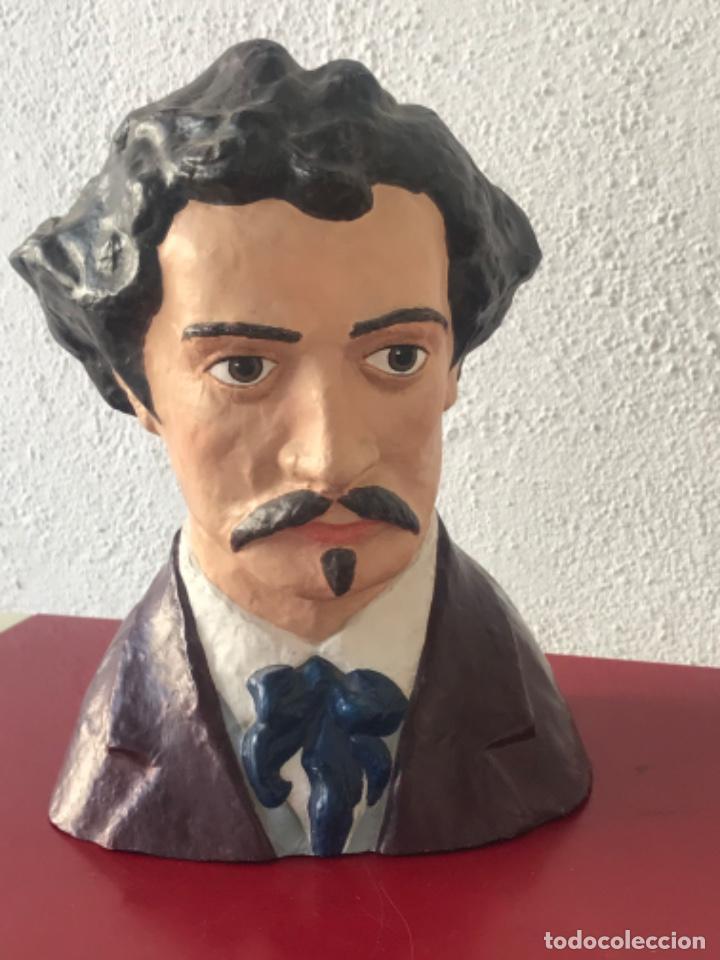 BUSTO DE MARIANO FORTUNY 1838-1874. REUS TARRAGONA. (Arte - Escultura - Otros Materiales)
