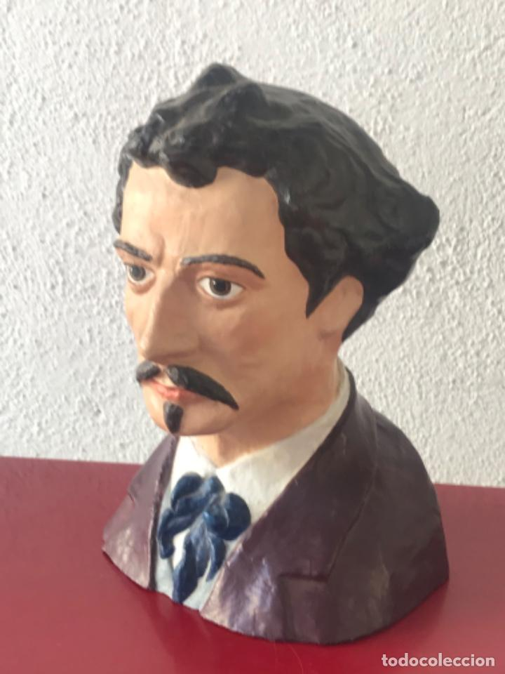 Arte: BUSTO DE MARIANO FORTUNY 1838-1874. REUS TARRAGONA. - Foto 2 - 212954158