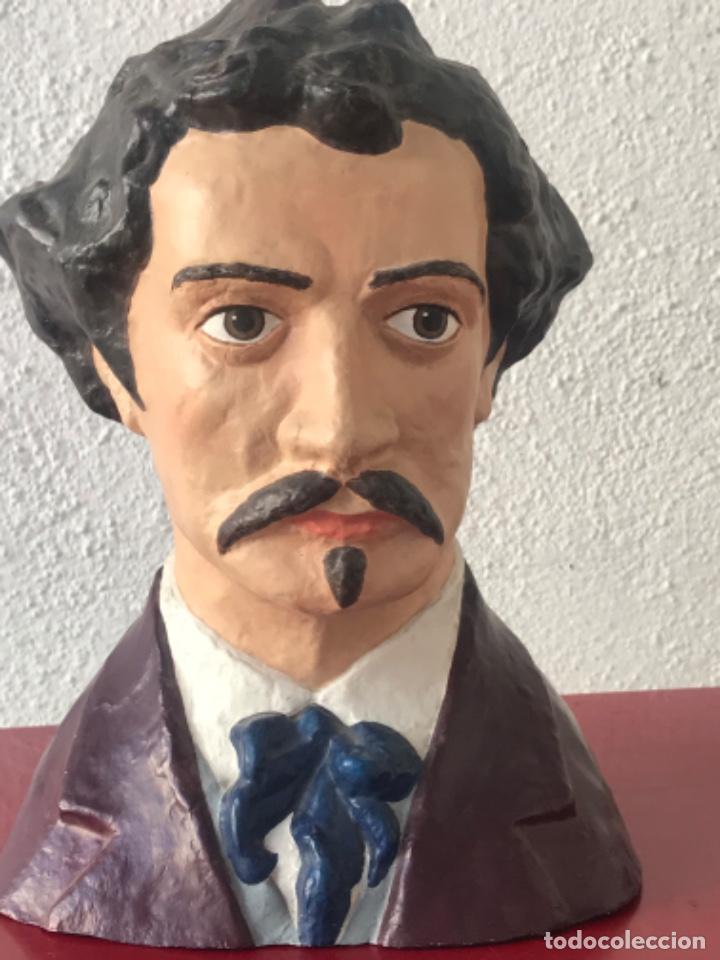 Arte: BUSTO DE MARIANO FORTUNY 1838-1874. REUS TARRAGONA. - Foto 8 - 212954158