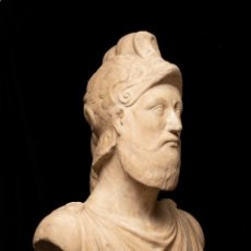 Arte: BUSTO DE MÁRMOL REPRESENTANDO A ARES DIOS DE LA GUERRA ESCUELA ITALIANA SIGLO XVII. Lote 213311538