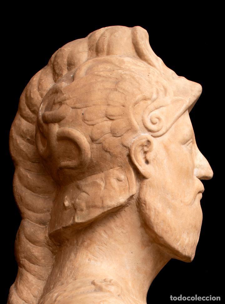 Arte: Busto de mármol representando a Ares dios de la guerra escuela italiana siglo XVII - Foto 3 - 213311538