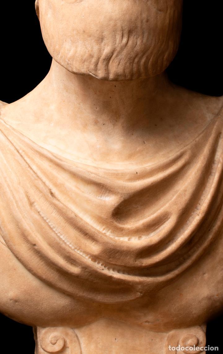 Arte: Busto de mármol representando a Ares dios de la guerra escuela italiana siglo XVII - Foto 6 - 213311538